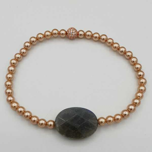 Bracelet with Pearl and Labradorite