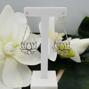 Silber Ohrringe mit Lotus