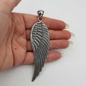 925 Sterling zilveren grote vleugel hanger