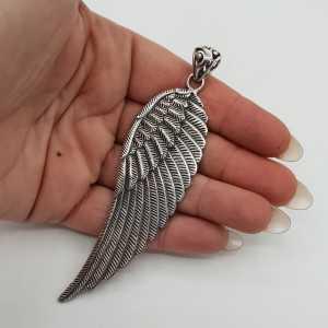925 Sterling Silber großer Flügel Anhänger