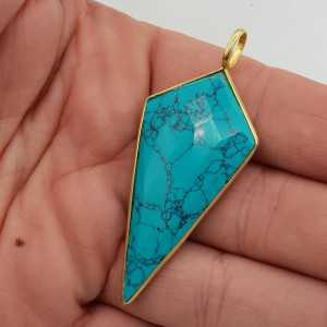 Gold plated pendant with Turquoise