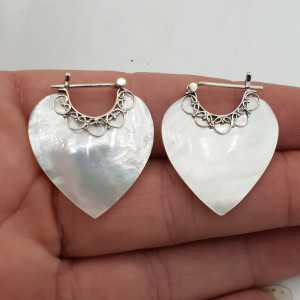 925 Sterling Silber creole Mutter-of-Pearl