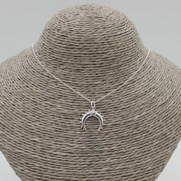 925 Sterling Silber Halskette mit horn Anhänger