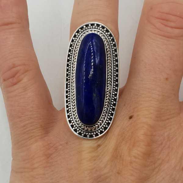 Ein Silber ring-set mit Lapislazuli