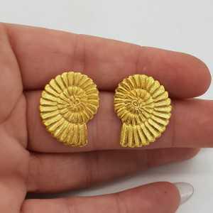 Goud vergulde schelp oorbellen