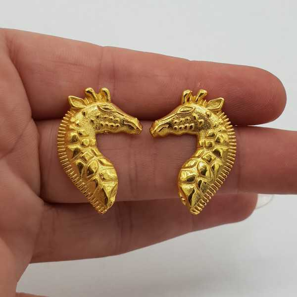 Goud vergulde Giraffe oorbellen