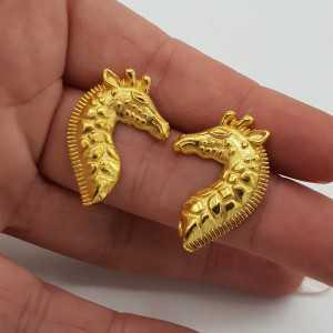 Vergoldete Ohrringe Giraffe