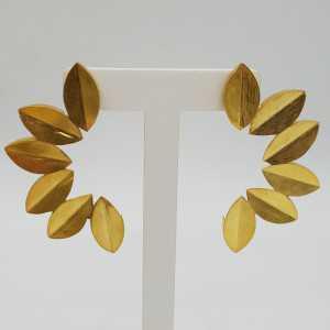 Goud vergulde oorbellen leaves