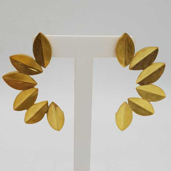 Vergoldete Ohrringe Blätter