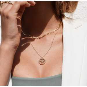 Vergoldete Halskette mit evil-eye-Anhänger mit Cz