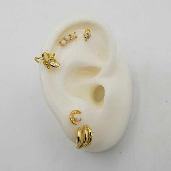 Goud vergulde earcuffs bij