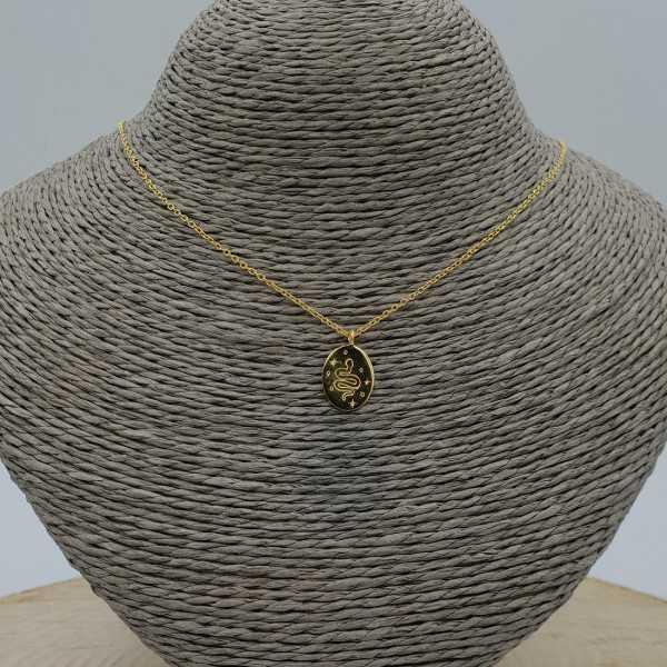 Goud vergulde ketting met slangen hanger