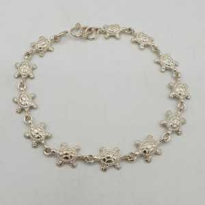 925 Sterling zilveren armband met schildpad bedeltjes