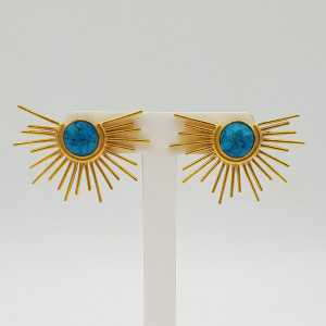Gold-gold sunset earrings with Turquoise