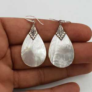 Silber-Ohrringe mit Perlmutt