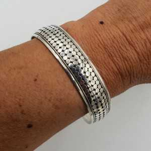 925 Sterling silver beaded bangle bracelet