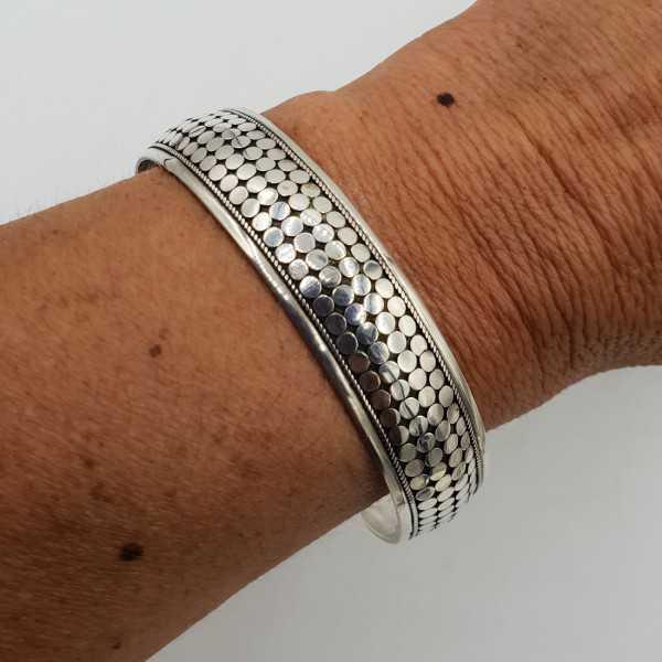925 Sterling Silber Perlen-Armreif