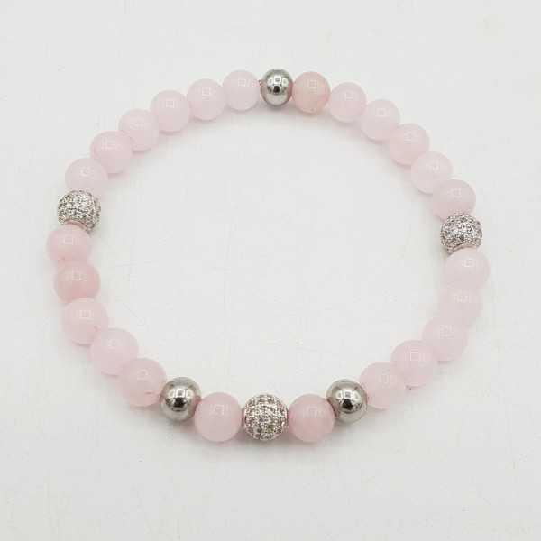 Bracelet made of rose quartz