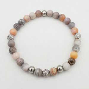Bracelet made of Botswana Agate