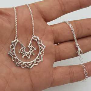 925 Sterling Silber mandala-Halskette