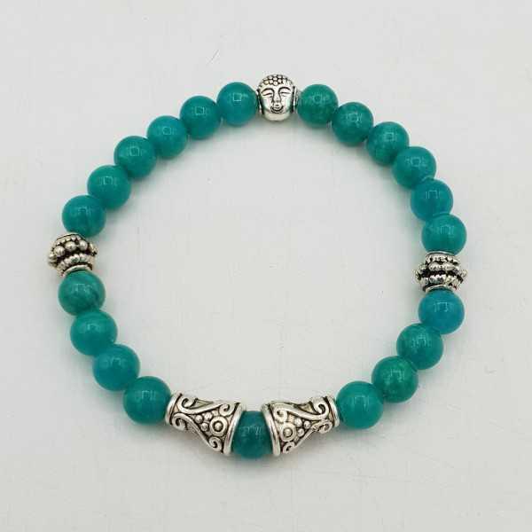 Bracelet made of 6 mm of sea-green Jade.
