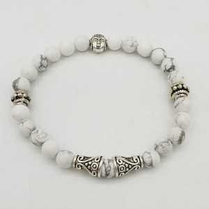 Armband met witte Howliet