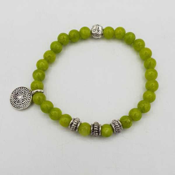 Armband, lime, green, Jade