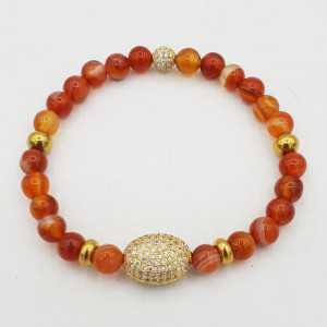 Armband van oranje Botswana Agaat