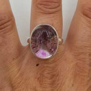 Ein Silber ring set mit einem Lodoliet (19 mm)