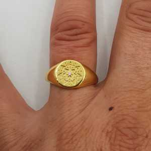 Die vergoldeten Siegel ring