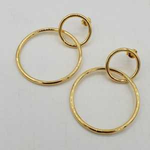 Vergoldete Doppel-ring-Ohrringe