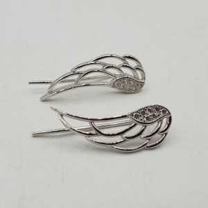 Aus 925 Sterling Silber, Flügel, oorklimmers mit Cz