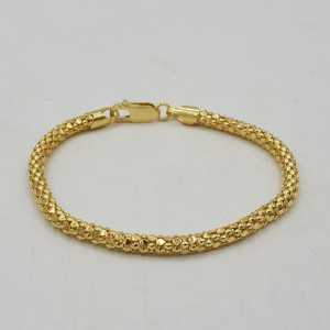 Gold plated cable bracelet