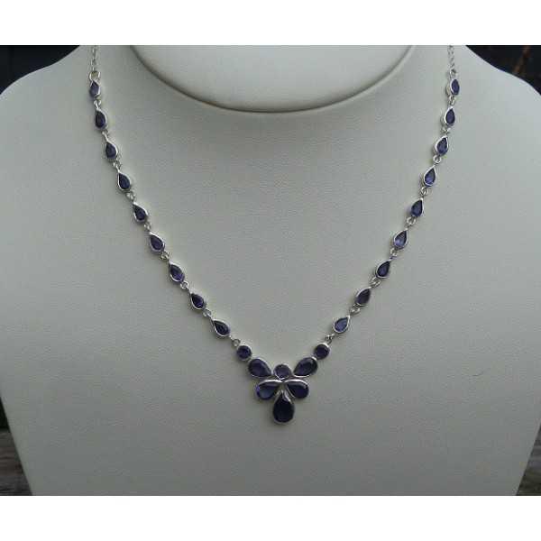 Silber Halskette set mit Facette Ioliet