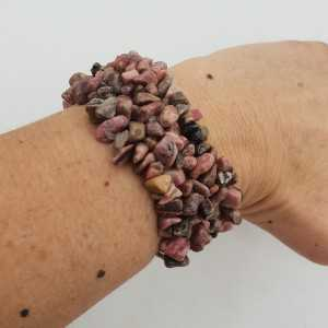 A wide splitarmband with Rhodonite