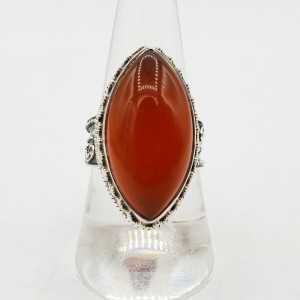 Silber ring in marquise Karneol in jeder Einstellung mit 18 oder 18,5