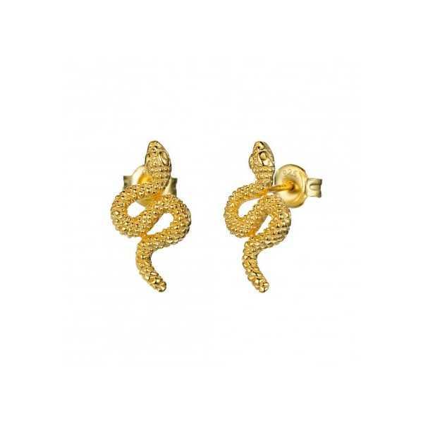Goud vergulde oorknoppen slang