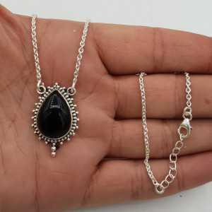 925 Sterling zilveren ketting met zwarte Onyx hanger