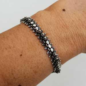 925 Sterling zilveren bewerkte Indiase armband