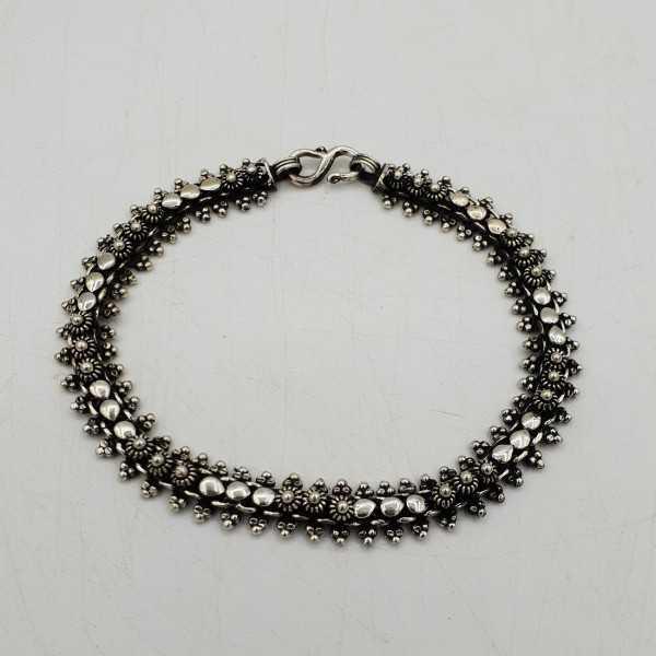 925 Sterling silver carved Indian bangle