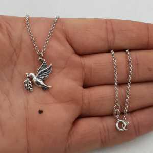 925 Sterling Silber Halskette mit einem Anhänger Taube