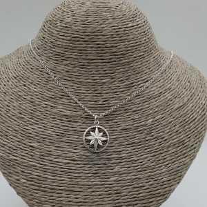 925 Sterling zilveren ketting met noord ster hanger
