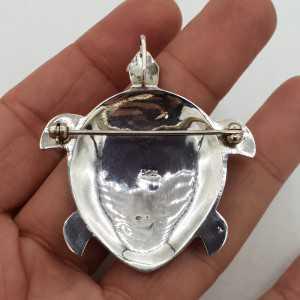 Zilveren hanger schildpad met Parelmoer large