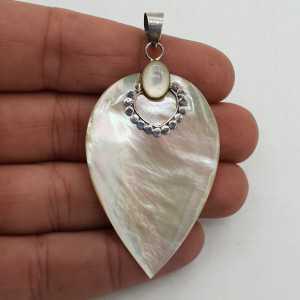 925 Sterling zilveren hanger met Parelmoer
