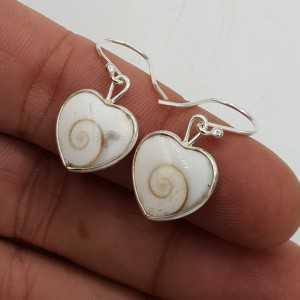 925 Sterling zilveren oorbellen hart van Shiva schelp