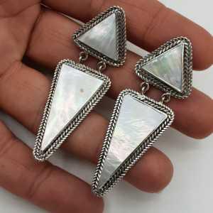 925 Sterling zilveren oorbellen met Parelmoer