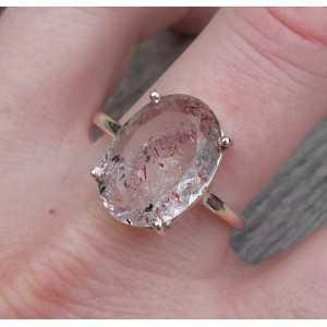 Zilveren ring gezet met ovale facet Lepidocrociet 19.7 mm