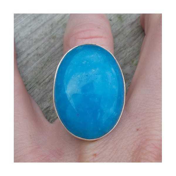 Silber ring set mit Smithsoniet Größe 17.3 mm