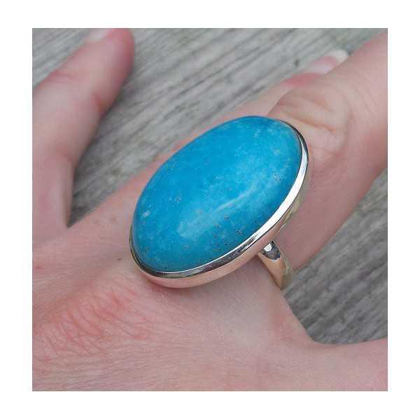 Silber ring set mit Smithsoniet Größe 19 mm
