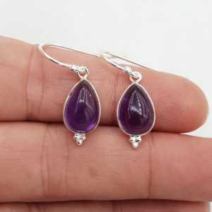 925 Sterling silver earrings teardrop Amethyst